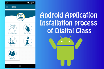 Android Application installation process of digital class